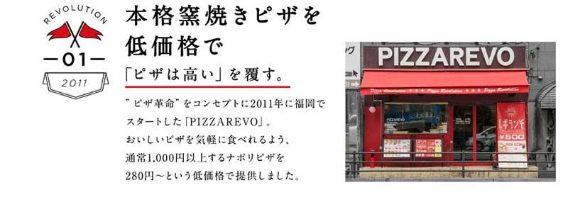 ピザレボ(PIZZA REVO)の革命1