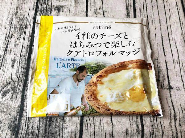eatime(イータイム)の冷凍ピザ「4種のチーズとはちみつで楽しむクアトロフォルマッジ」パッケージ
